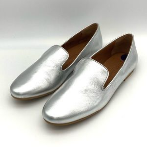 Gentle Souls Ellina Leather Loafers Silver Comfort